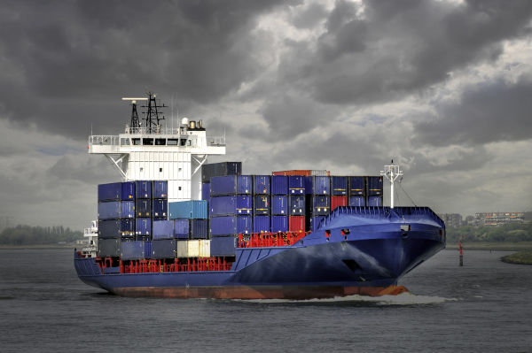 transportation of a container ship